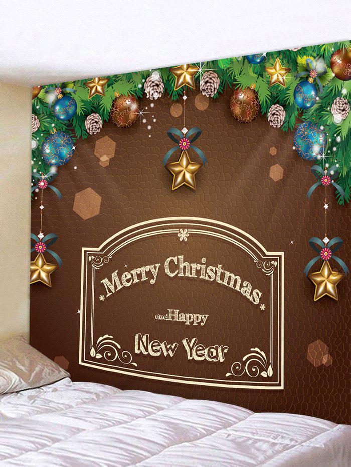 Online Merry Christmas Letter Ball Print Tapestry Wall Art