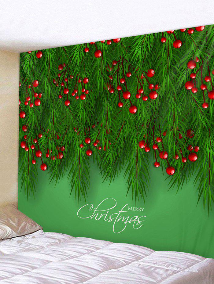 Discount Christmas Tree Fruit Print Wall Decor Tapestry