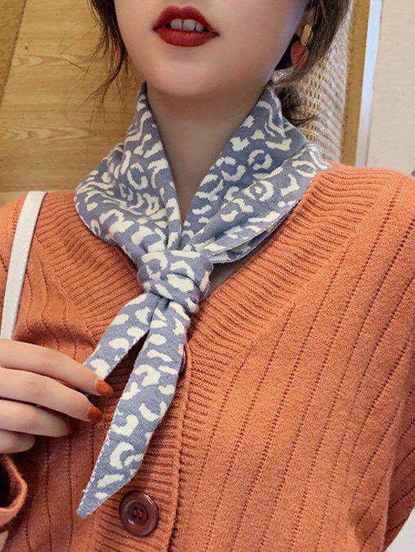 Shops Leopard Knitted Triangle Double-sided Scarf