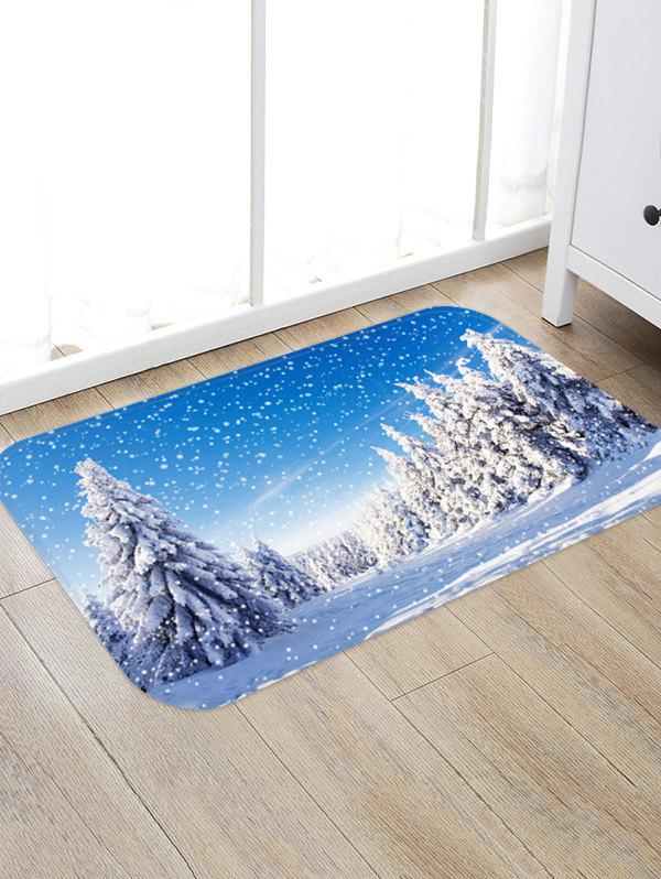 Sale Snow Pine Tree 3D Digital Print Floor Rug