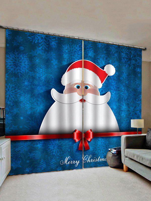 Outfits Merry Christmas Santa Print Decorative Window Curtains