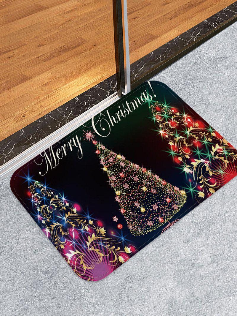 Online Colorful Christmas Tree Print Non-slip Area Rug