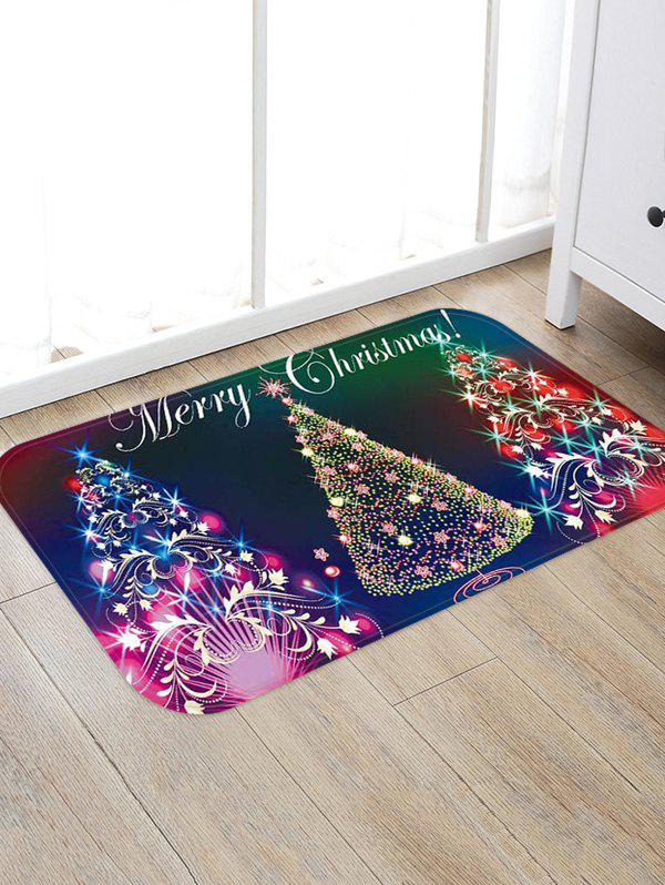 Outfits Colorful Christmas Tree Print Non-slip Area Rug