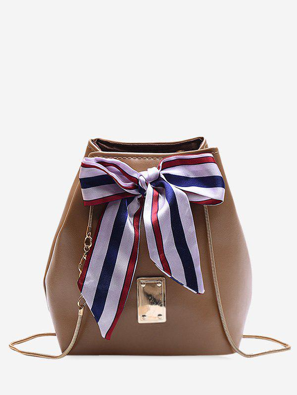Outfits Ribbon Bowknot Design Chain Bucket Bag