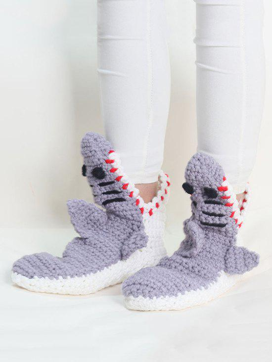 Chic Shark Shape Crochet Home Floor Socks