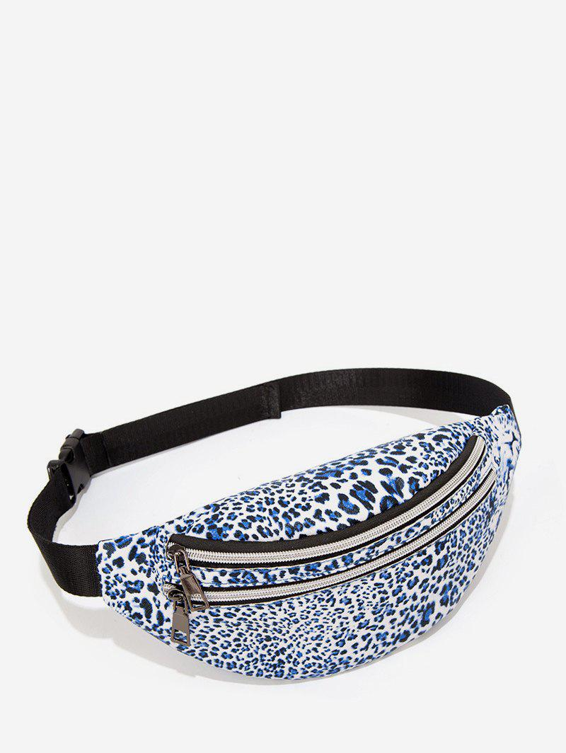 Store Leopard Pattern Double Pockets Chest Bag