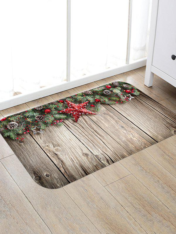 Affordable Christmas Pine Nuts Wood Grain Floor Rug