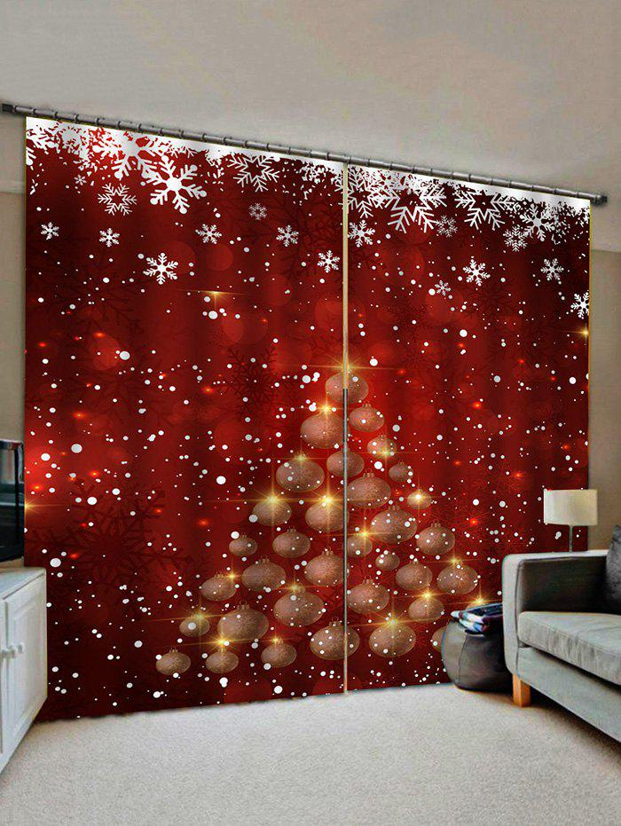 Affordable Christmas Snowflake Tree Pattern Window Curtains