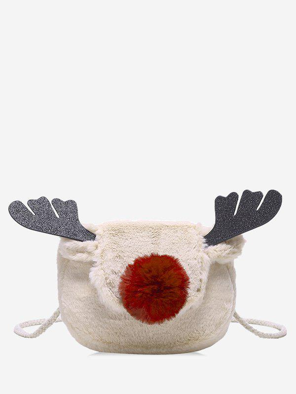 Fashion Christmas Deer Horn Crossbody Fuzzy Bag