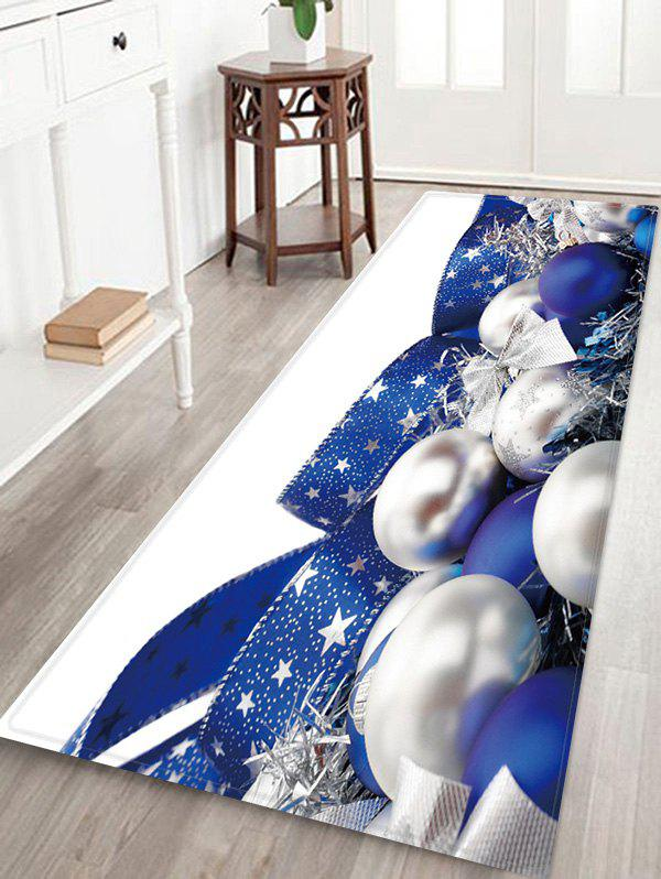 Fancy Christmas Ball Print Antiskid Area Rug