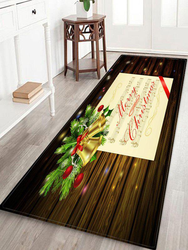 Cheap Merry Christmas Music Note Print Non-slip Area Rug