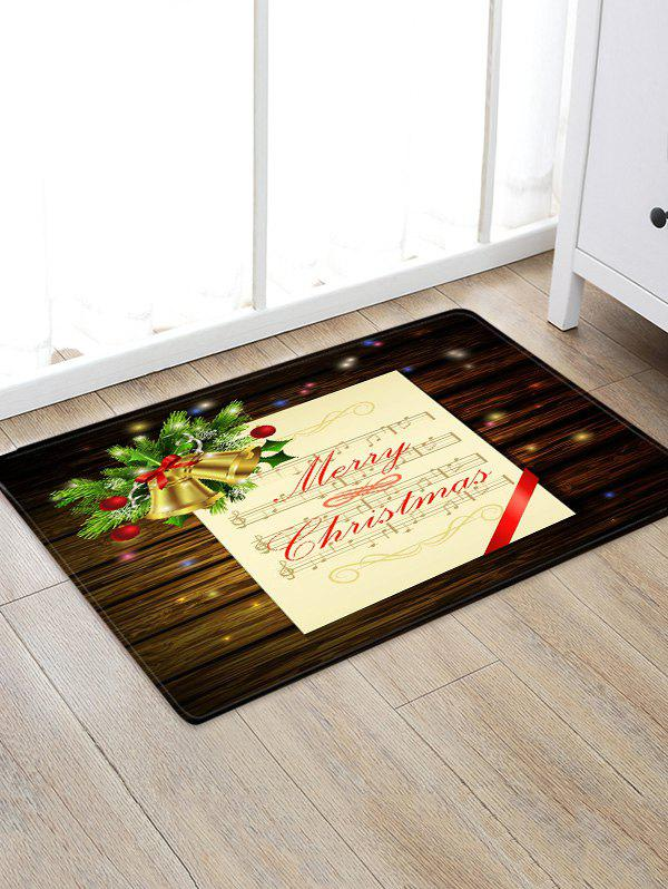 Outfit Merry Christmas Music Note Print Non-slip Area Rug