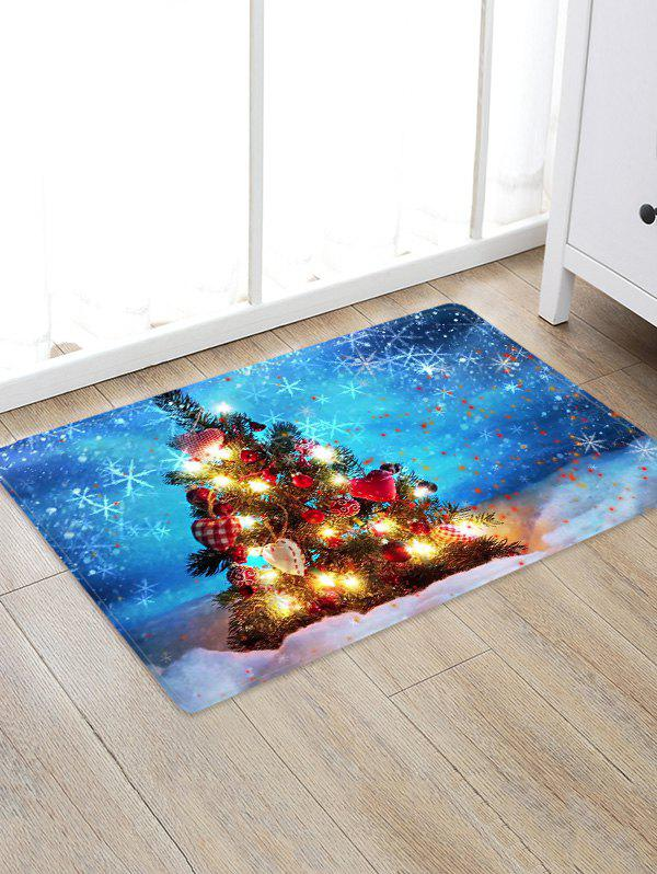 Hot Christmas Tree Print Decorative Non-slip Area Rug