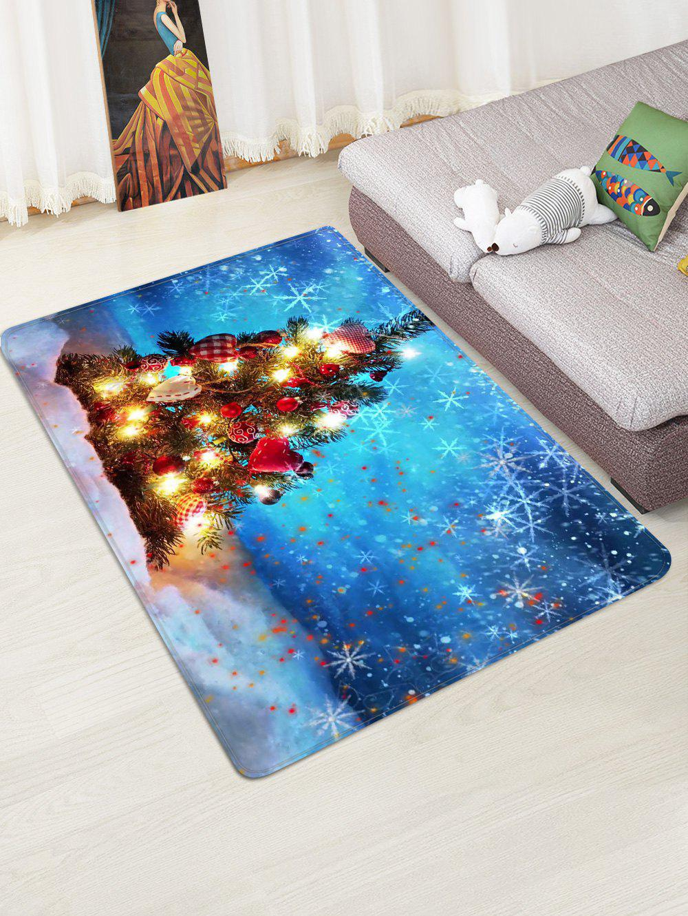 Store Christmas Tree Print Decorative Non-slip Area Rug