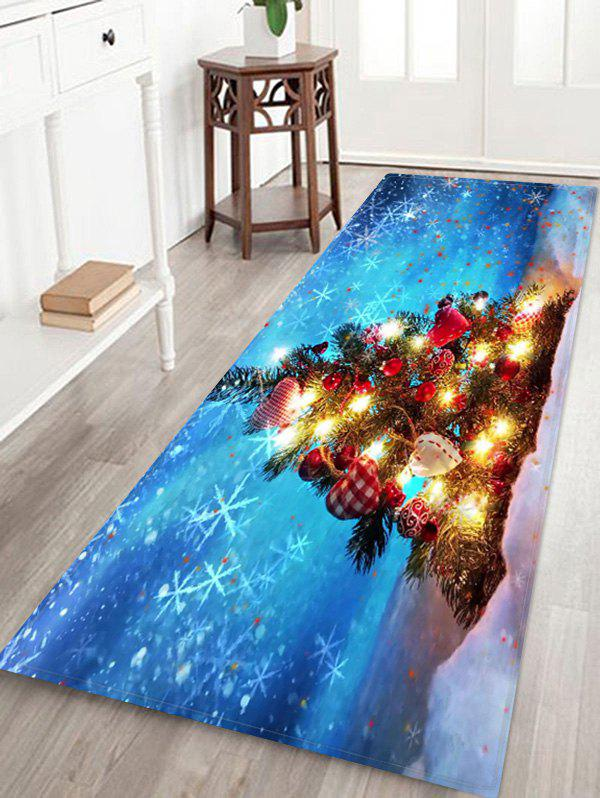 Fancy Christmas Tree Print Decorative Non-slip Area Rug