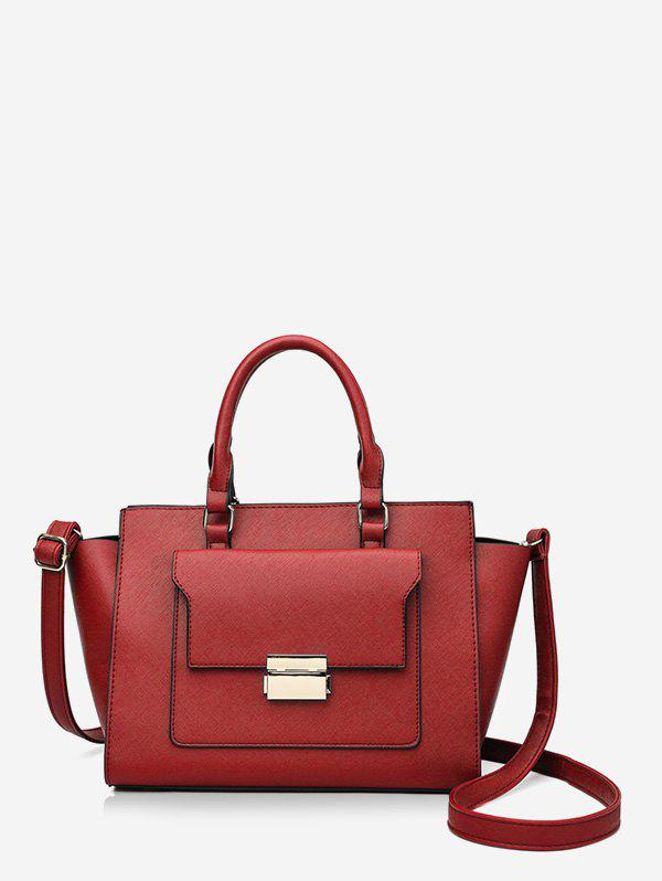 Fashion Solid Color PU Leather Work Tote Bag
