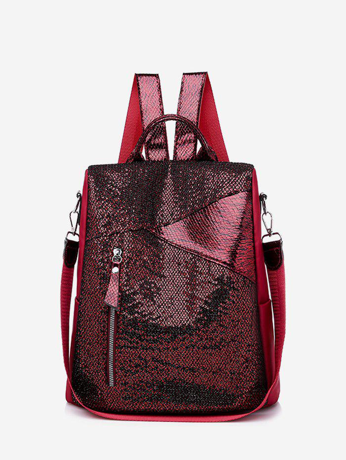 Fancy Christmas Sparkle Sequin Anti-theft College Backpack