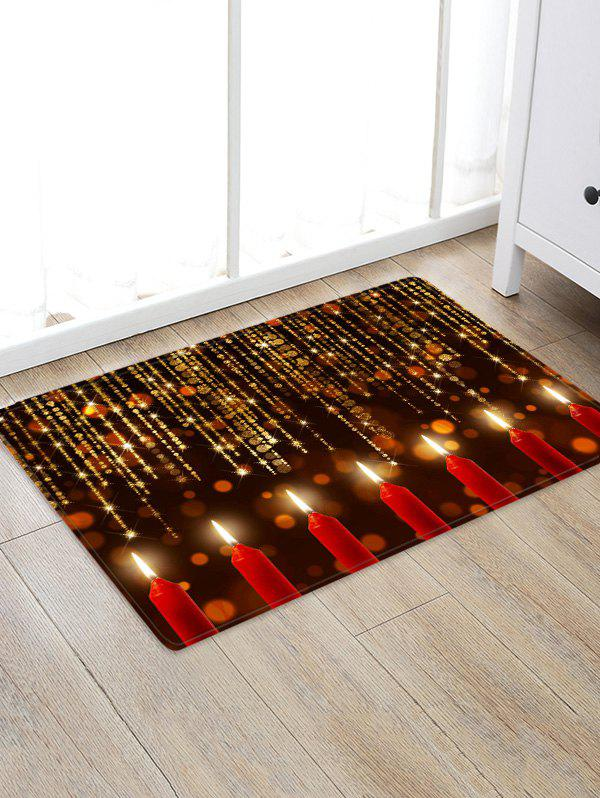 Latest Sparkling Christmas Candle Floor Mat