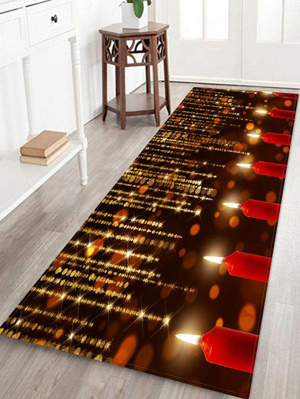 Chic Sparkling Christmas Candle Floor Mat