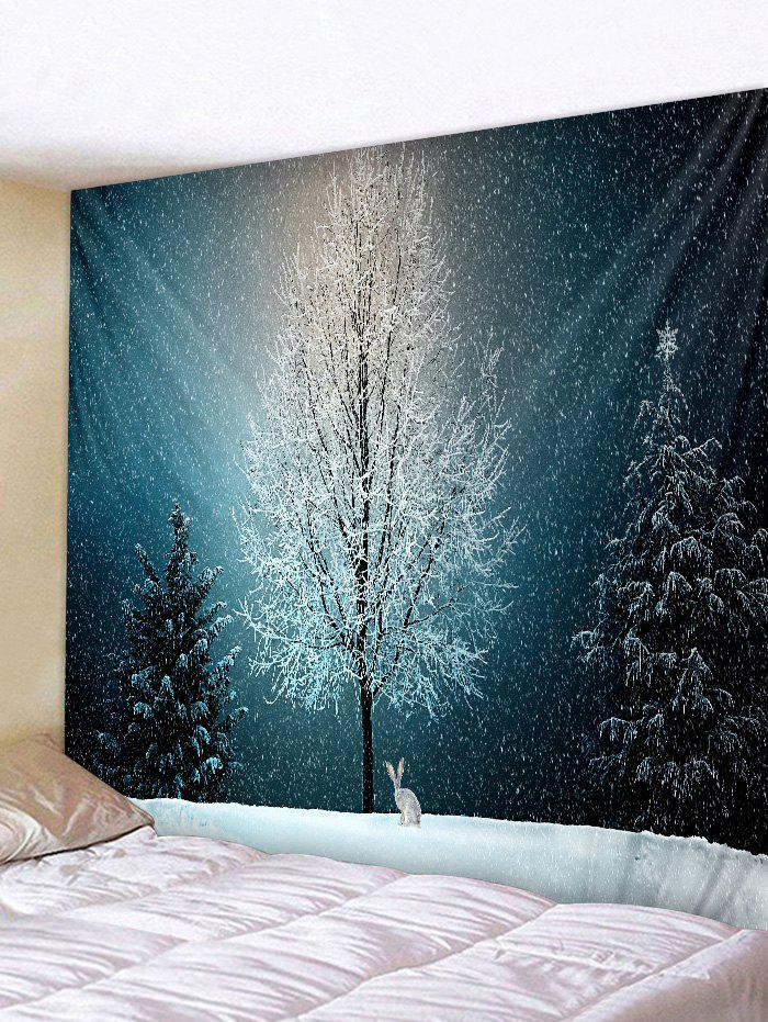 Sale Snow Tree Rabbit 3D Print Wall Tapestry