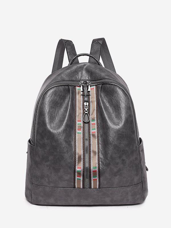 Affordable Front Zip Leather Small Backpack