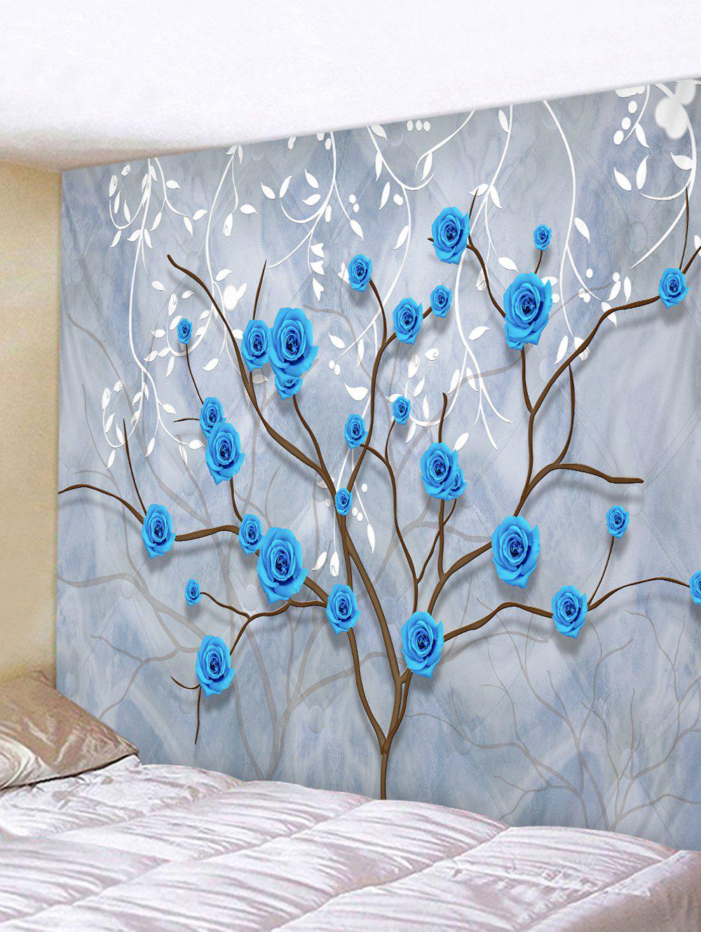 Hot Flower Tree and Leaves Print Tapestry Wall Hanging Art Decoration