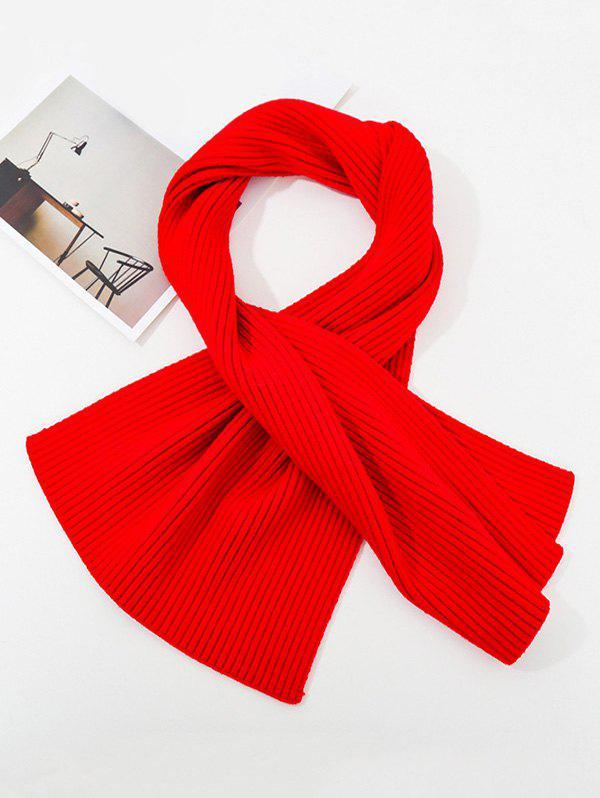 Store Solid Striped Knitted Unisex Long Scarf