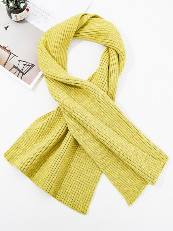 Affordable Solid Striped Knitted Unisex Long Scarf