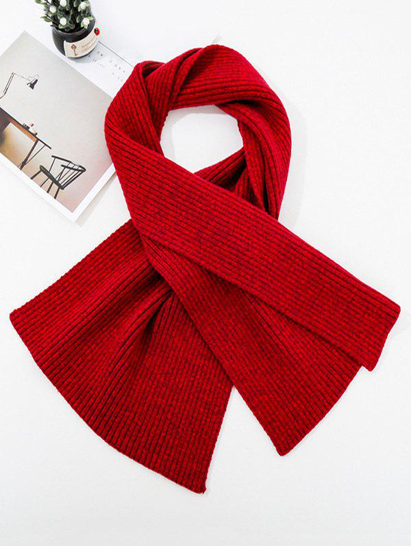 Shops Solid Striped Knitted Unisex Long Scarf
