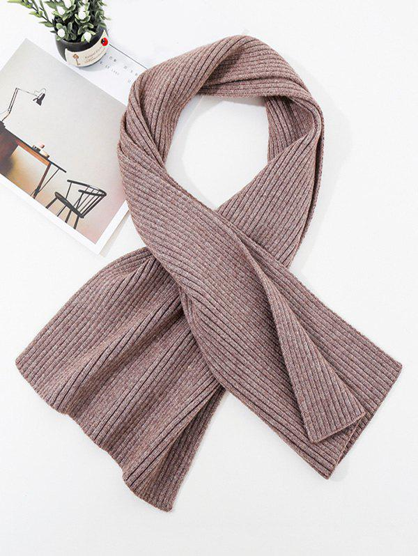 Buy Solid Striped Knitted Unisex Long Scarf