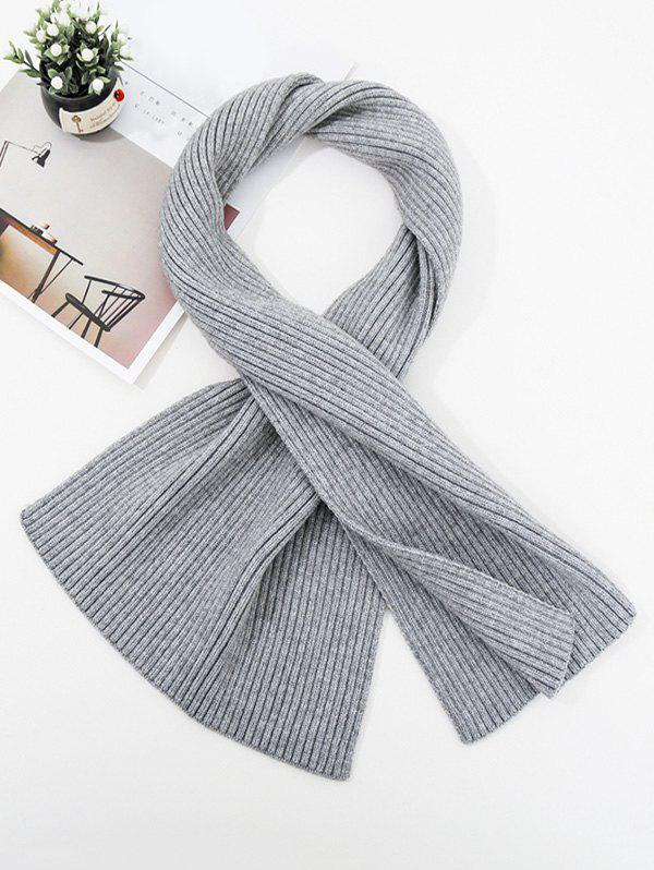 Shop Solid Striped Knitted Unisex Long Scarf