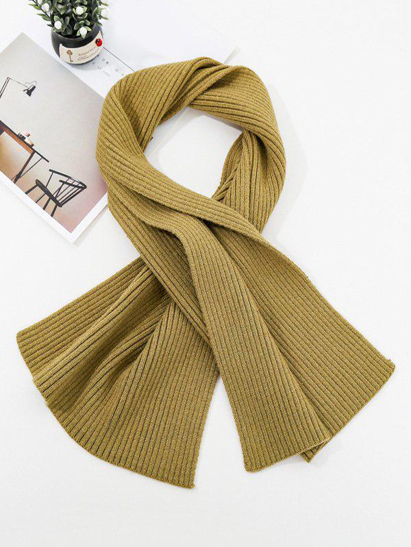 Hot Solid Striped Knitted Unisex Long Scarf