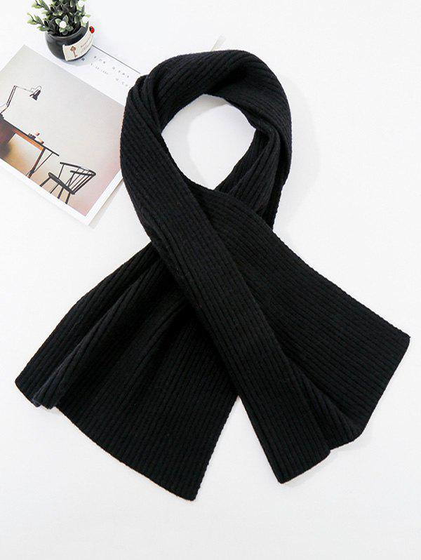 Outfits Solid Striped Knitted Unisex Long Scarf