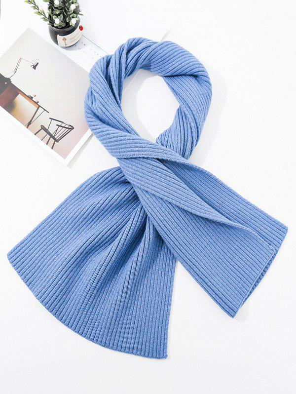 Online Solid Striped Knitted Unisex Long Scarf