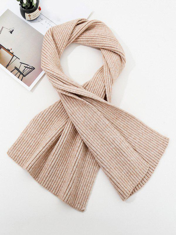 New Solid Striped Knitted Unisex Long Scarf