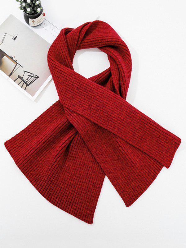 Trendy Solid Striped Knitted Unisex Long Scarf