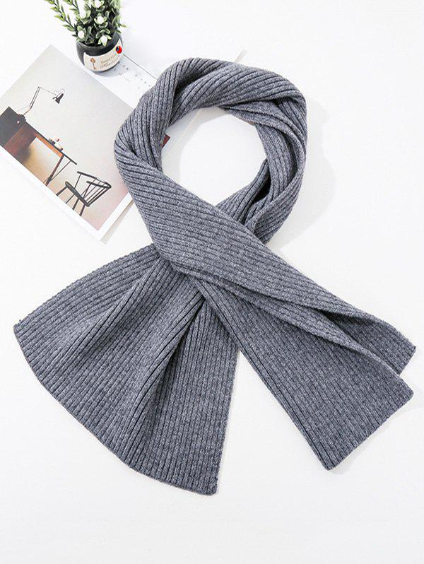 Discount Solid Striped Knitted Unisex Long Scarf