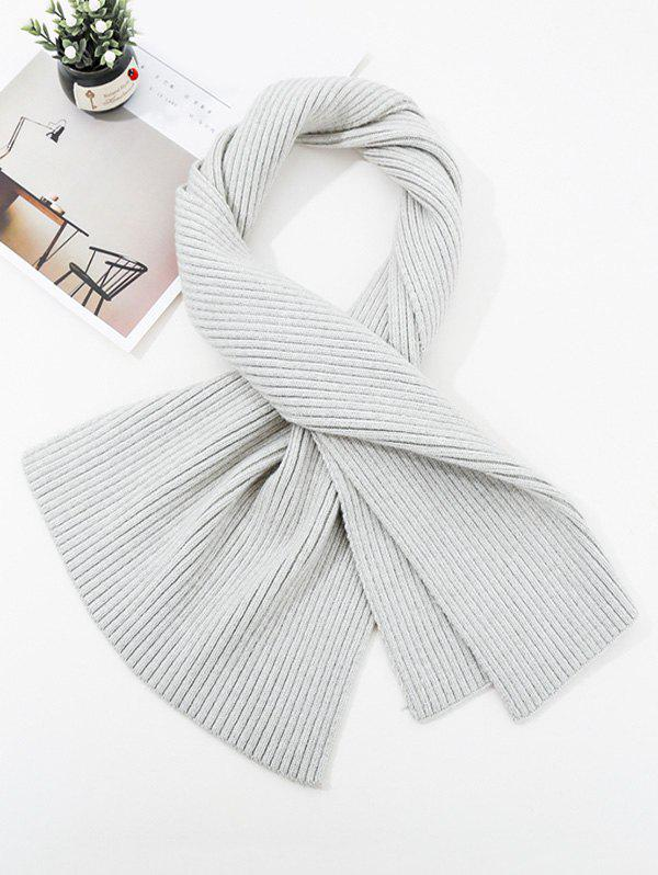 Fancy Solid Striped Knitted Unisex Long Scarf