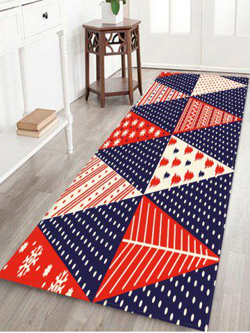 Christmas Tree Patchwork Pattern Water Absorption Area Rug