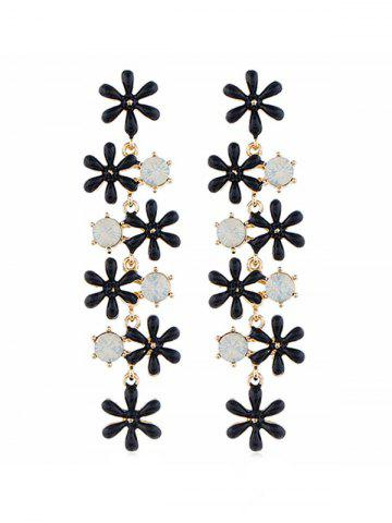 Flower Shape Bohemia Tassel Dangle Earrings