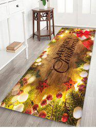 Christmas Tree Branch Gift Print Floor Rug -