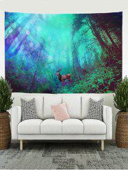 Forest Elk Print Tapestry Wall Hanging Art Decoration -