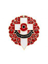 Flowers Cross Brooch -