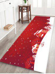 Christmas Tree Snowflake House Pattern Water Absorption Area Rug -
