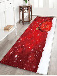 Christmas Ball Snowfield Pattern Water Absorption Area Rug -