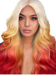 Long Center Part Ombre Body Wave Synthetic Wig -