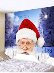 Christmas Santa Claus Pattern Tapestry -