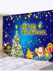 Christmas Tree Sleigh Print Tapestry Wall Hanging Art Decoration -