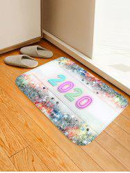 Christmas Tree Branch Stars Number Print Water Absorption Area Rug -