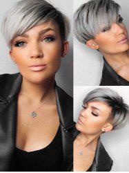 Ombre Synthetic Short Straight Side Part Wig -